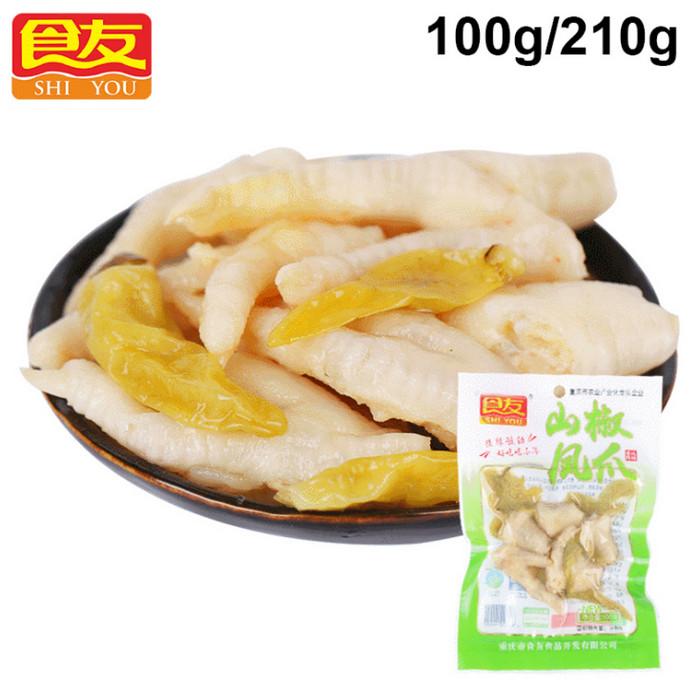 乐动体育网址 重庆特产山椒味鸡爪100g/210g